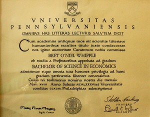 University of Pennsylvania Bachelor of Science in Economics